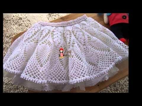 1f75b1d3eb Vestido Olanes para Niña Crochet parte 1 de 3 - YouTube