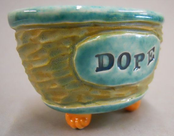 Fun dope dish with duck via Etsy