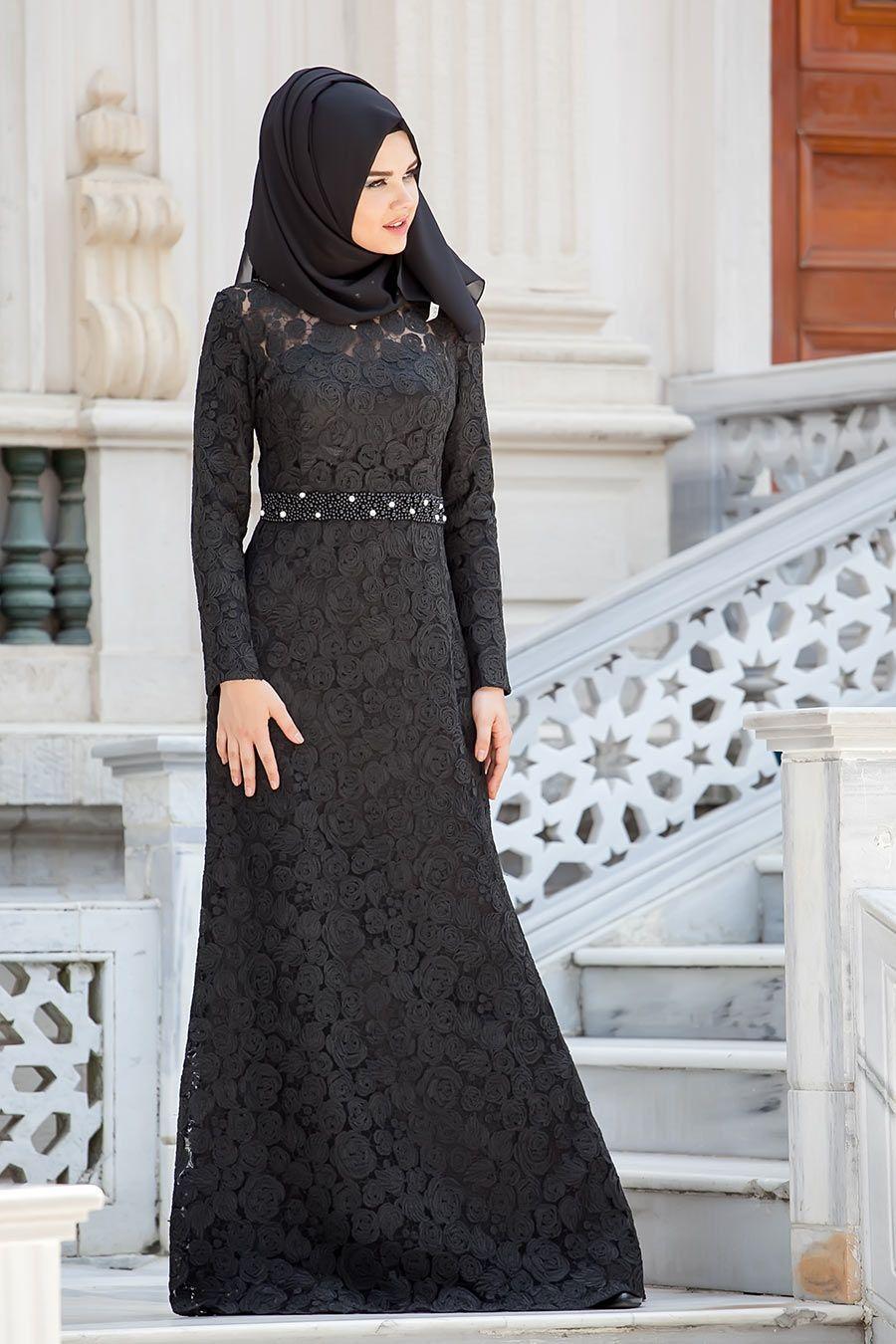 Tesetturlu Abiye Elbiseler Tesetturlu Abiye Elbise Siyah Elbise Tesettur Bayan Giyimde Elbise Ferace Esarp S Abaya Tarzi Musluman Modasi Musluman Elbisesi