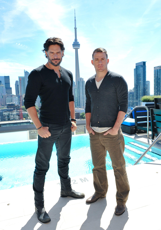 5ea3adaf Channing Tatum and Joe Manganiello Take Their Hotness to Toronto For Magic  Mike - www.popsugar.com