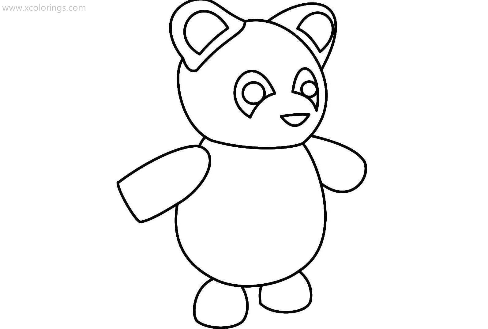Roblox Adopt Me Coloring Pages Panda Pets Drawing Coloring Pages Coloring Pages For Kids
