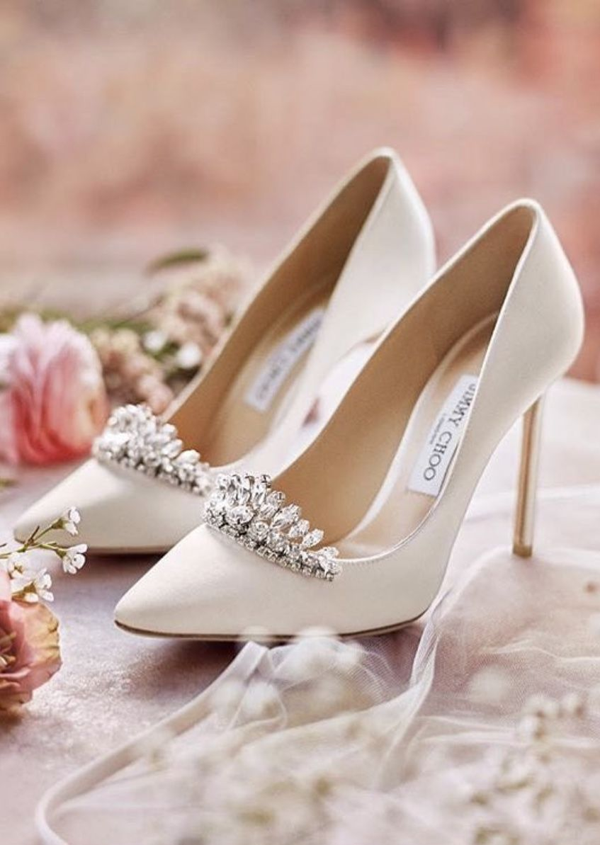 new list many styles timeless design Jimmy Choo in 2019 | Pink wedding shoes, Prom shoes, Bridal shoes