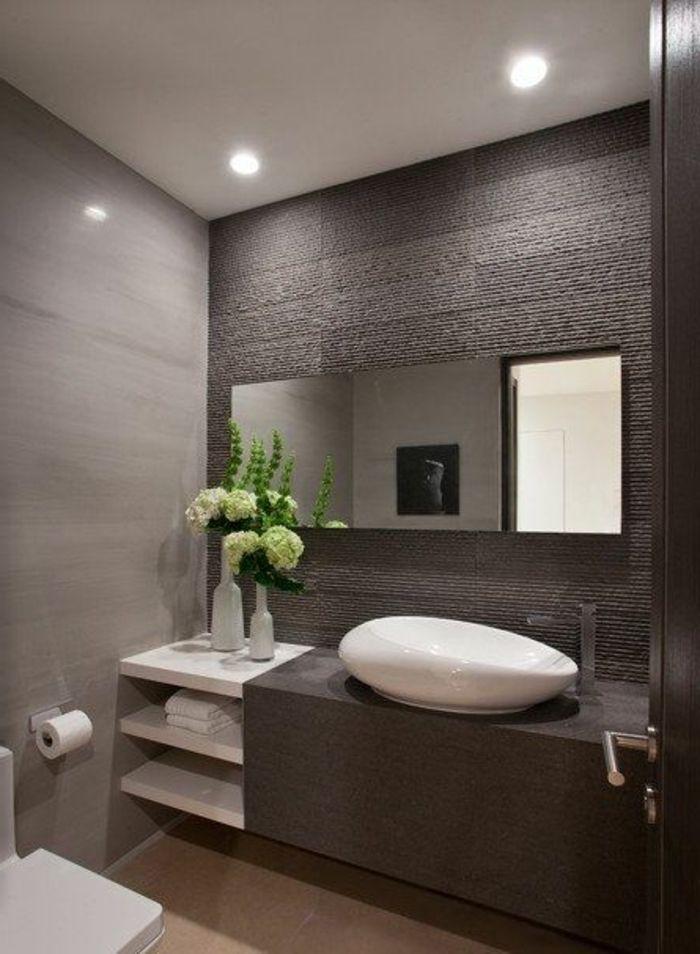 Mille idées d\u0027aménagement salle de bain en photos Mobalpa, Salles - Salle De Bain Moderne Grise