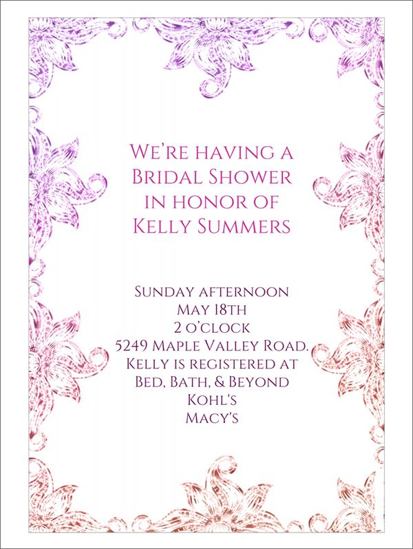 22 Free Bridal Shower Printable Invitations visit www - free printable wedding shower invitations templates