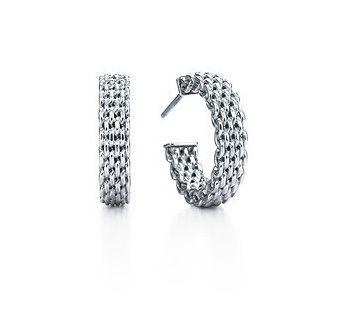 Tiffany Somerset Tm Basic Hoop Earrings