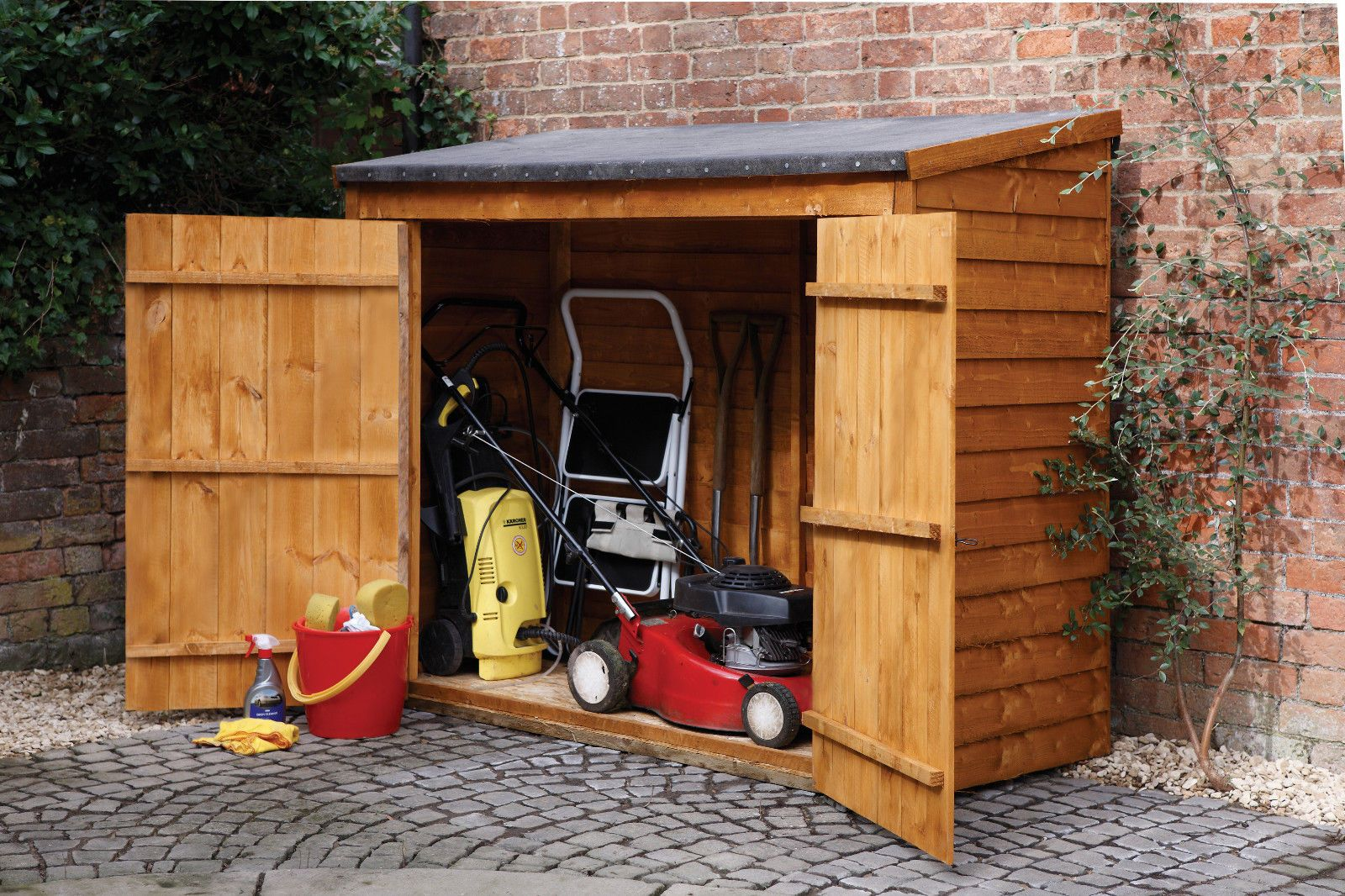 Maxi Wooden Shed Outdoor Storage Unit Utility Tools Box