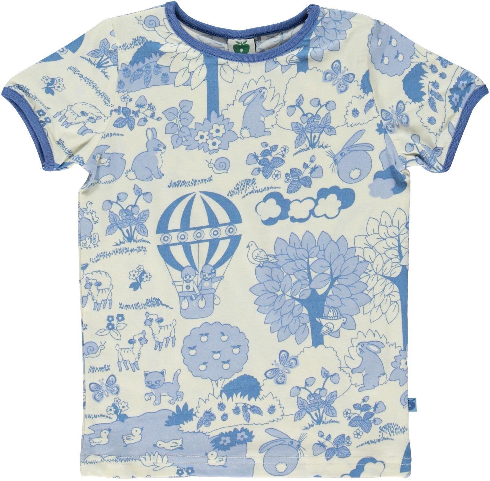 Smafolk s s tee Blue Landscape Retro Baby Clothes Baby Boy