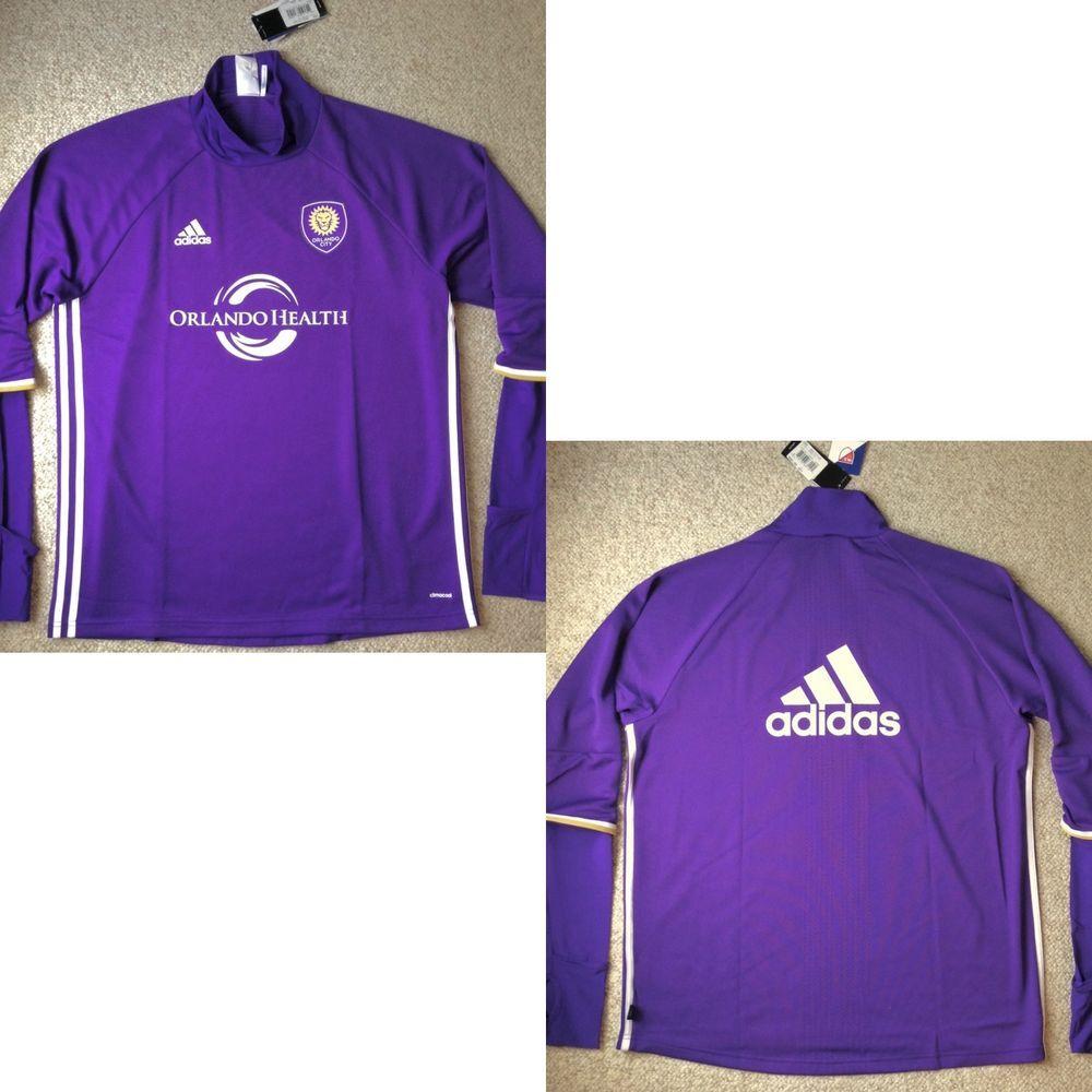 free shipping 4d7de bd8b1 Details about adidas Orlando City SC Purple 2019 Long Sleeve ...