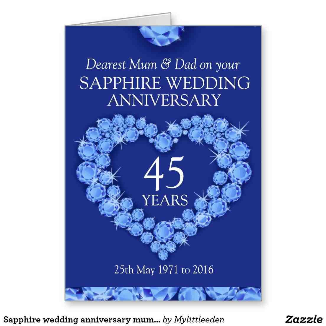 45Th Wedding Anniversary Gift Ideas For Parents | wedding gifts for ...