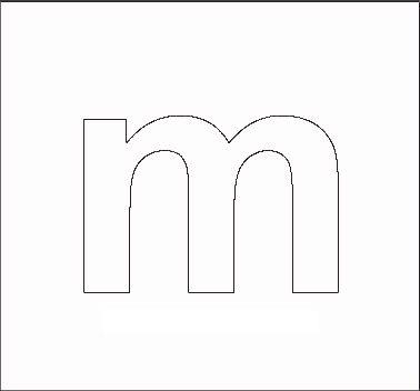 lowercase m stencil Alphabet