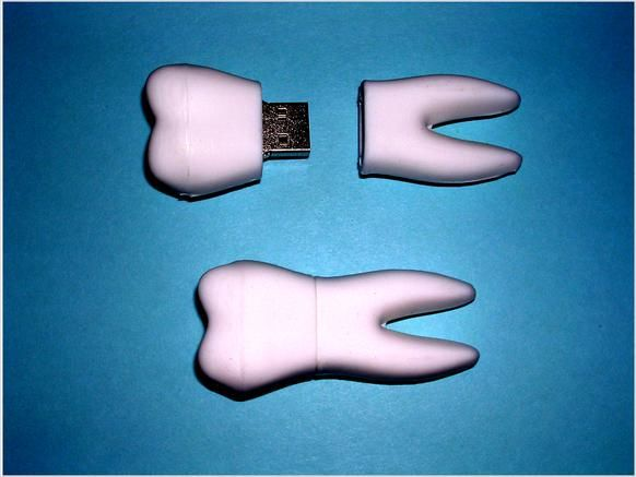 Tooth shaped USB flash drive. Perfect gift for a dentist, a dental assistant, or other medical professional!
