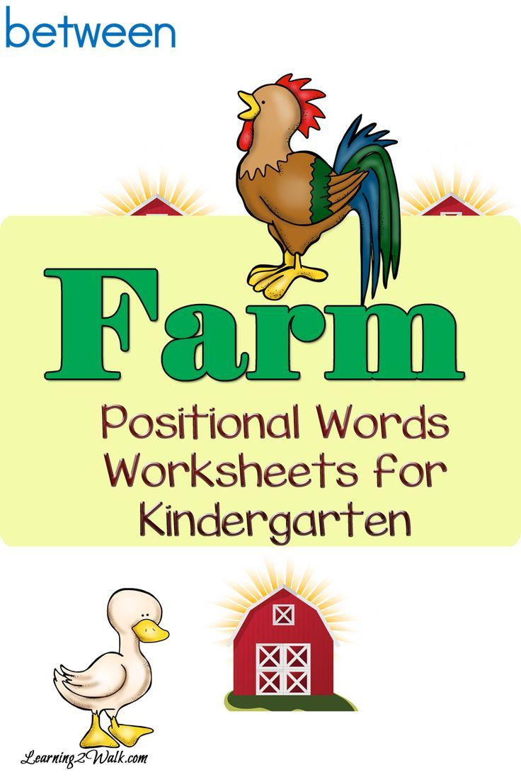 Worksheets Positional Words Worksheets For Kindergarten roosters cows and ducks enjoy theses farm positional words worksheets for kindergarten