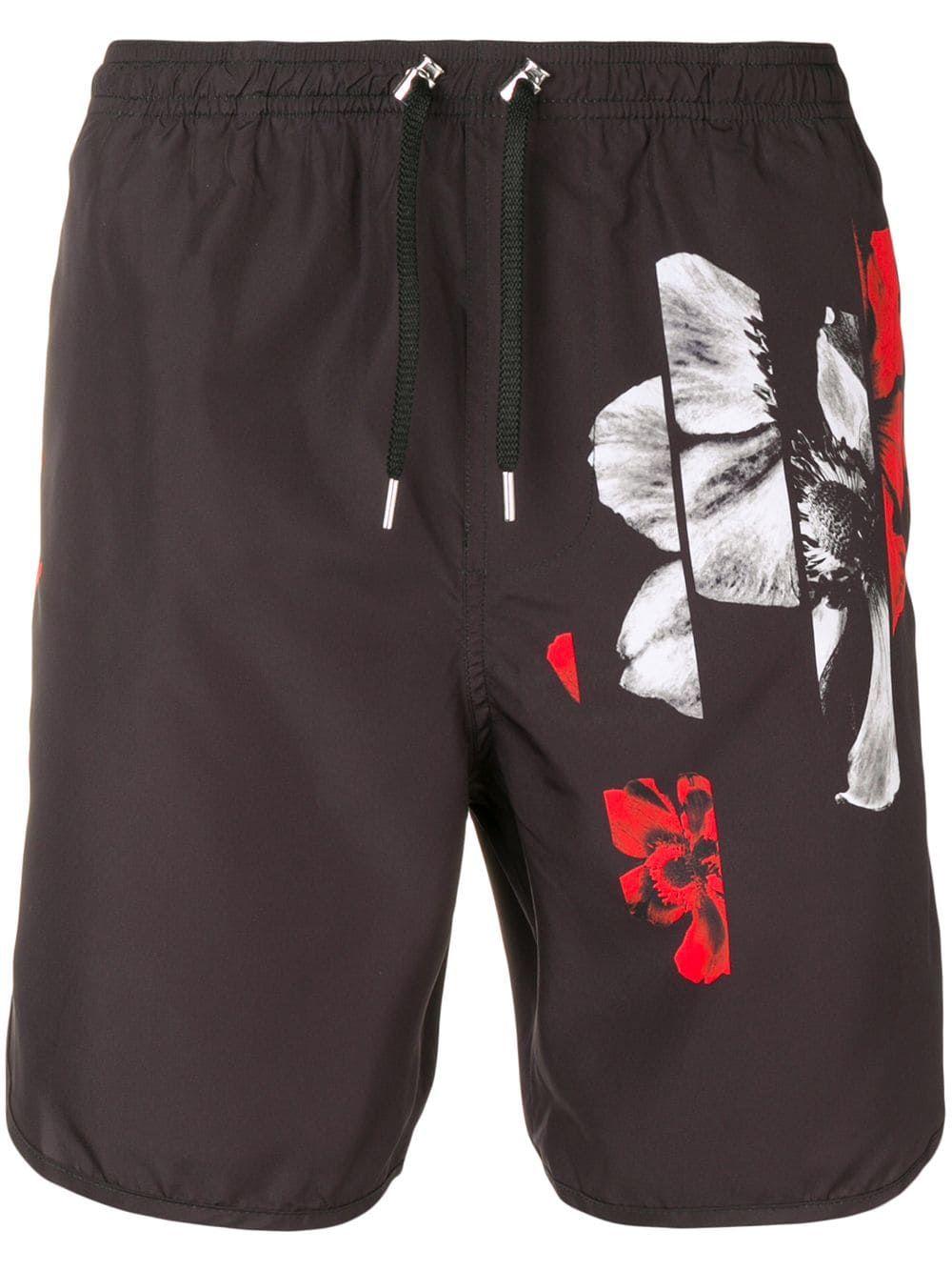 b7e02062d4 Neil Barrett printed swim shorts - Black in 2019 | Products | Swim ...