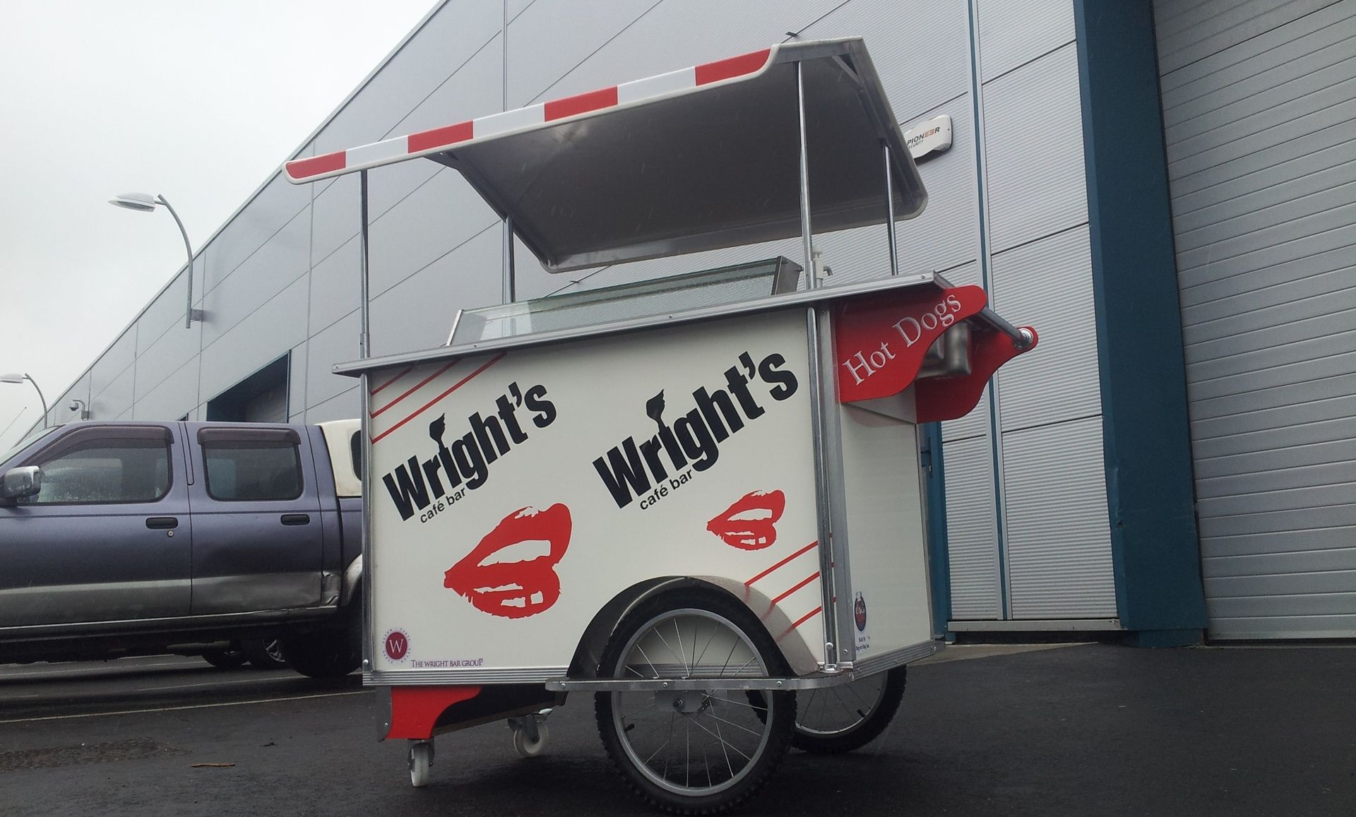 Wrights Cafe Bar Hot Dog Cart Catering Trailer Catering Van