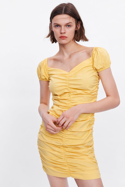 5f3f7b66 Gathered dress in 2019 | Summer Dress | Dresses, Zara dresses, Fashion