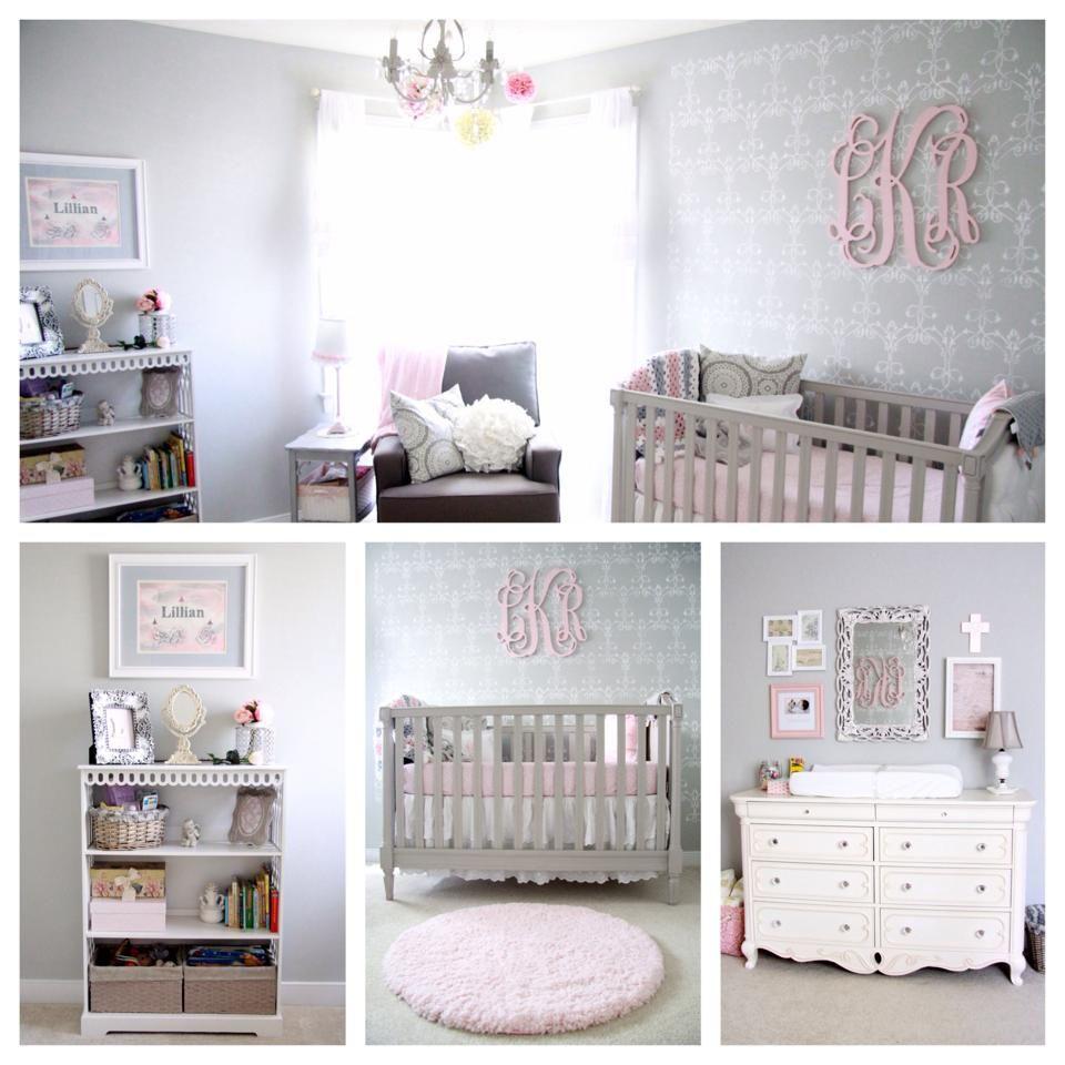 Blush Pink And Gray Nursery Benjamin Moore Stonington Gray Walls