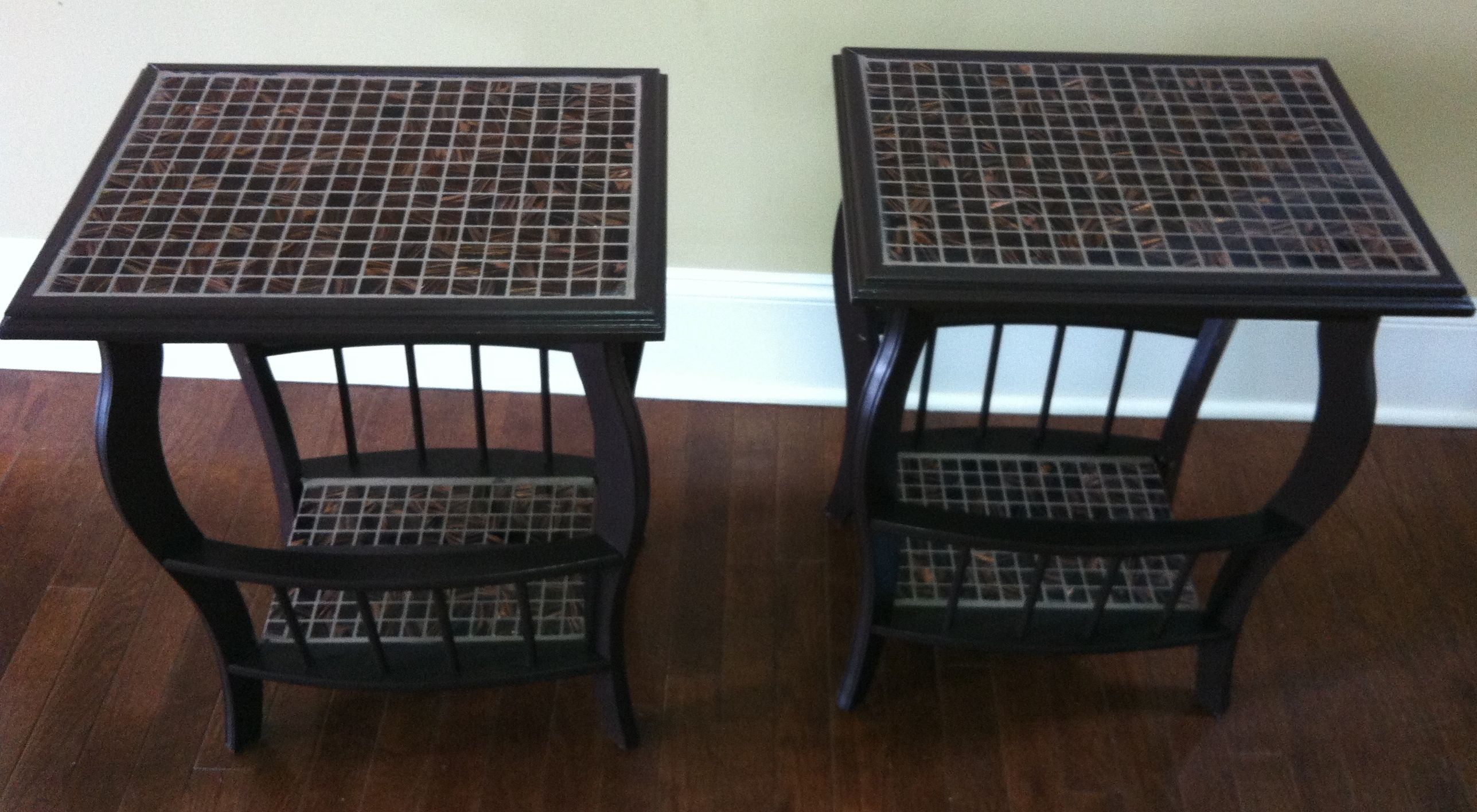 New Bedside Tables ~ another consignment shop find