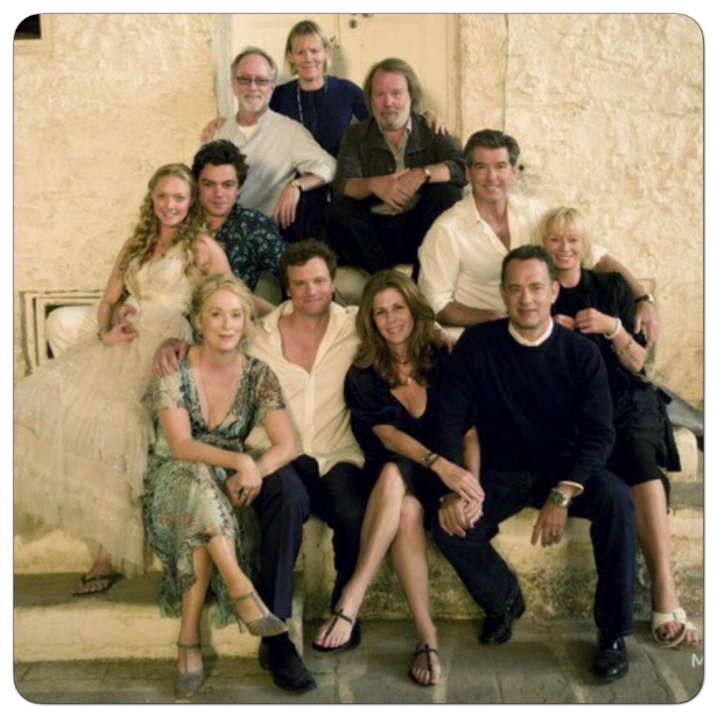 Cast And Crew Of Mamma Mia Mamma Mia Meryl Streep Mama Mia