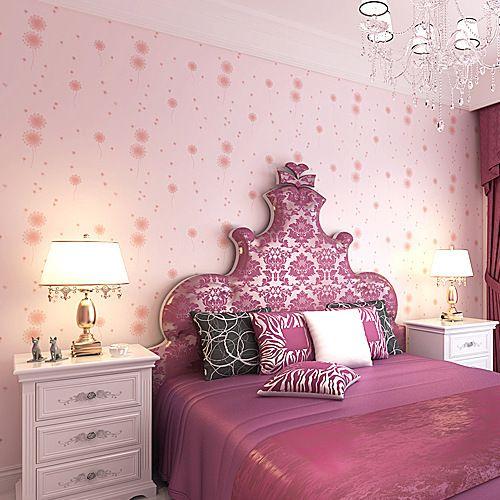 3D non-woven wallpaper dandelion children bedroom living room ...