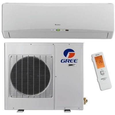 Gree Ultra Efficient 12 000 Btu 1 Ton Ductless Mini Split Air Conditioner With Inverter Heat Remote 208 230v Terra12hp230v1a The Home Depot Ductless Mini Split Heat Pump Ductless