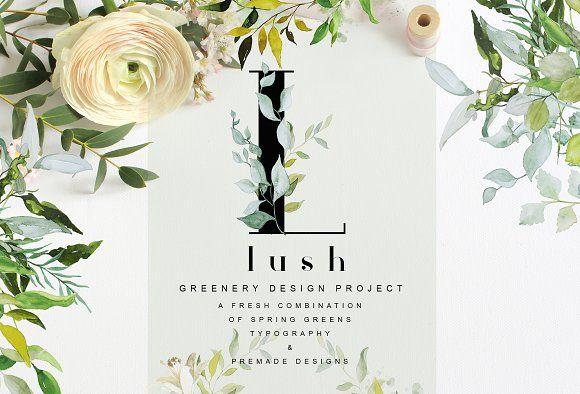 LUSH - Greenery Art Project by studioequinox on @creativemarket