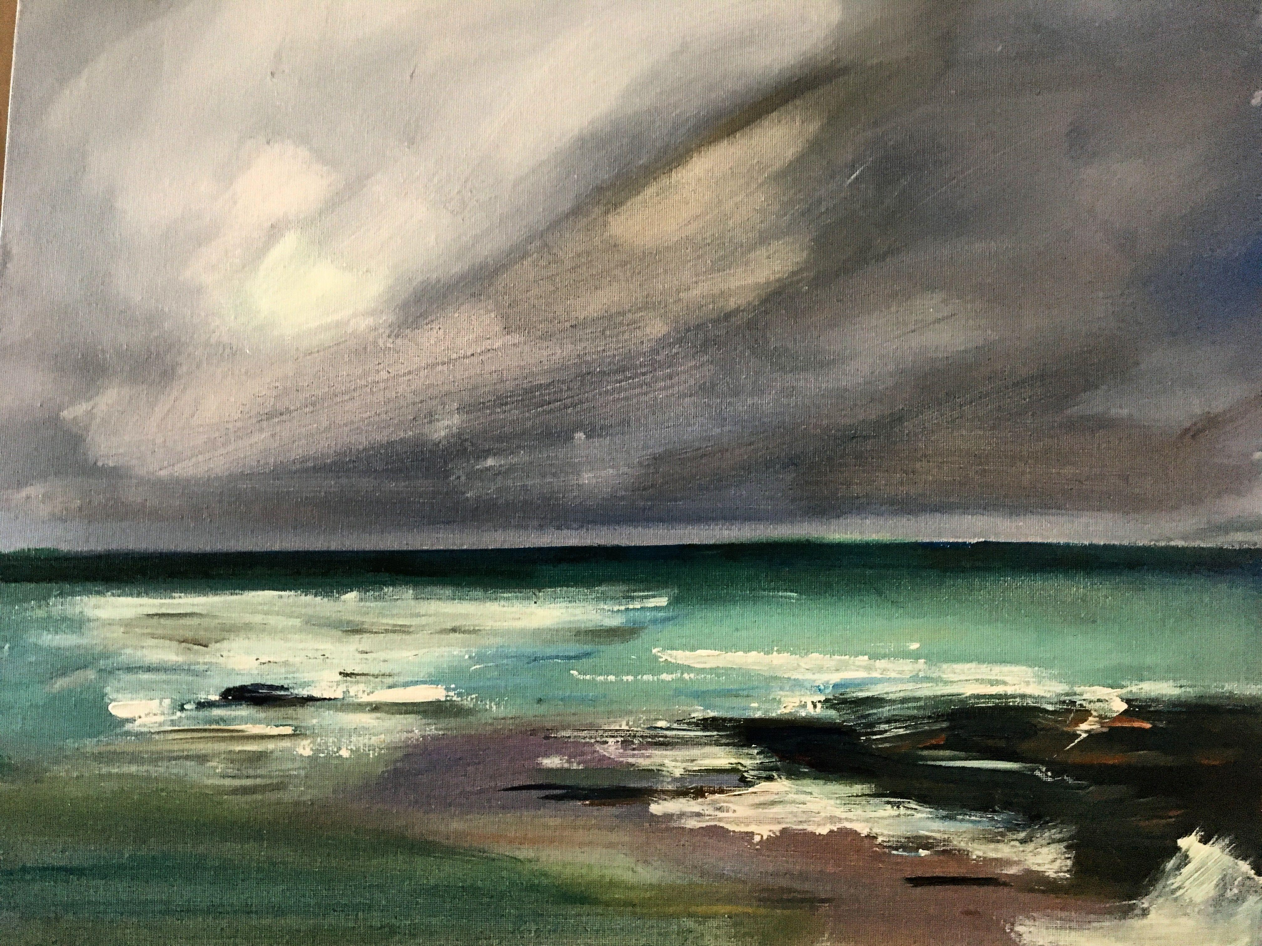 Landscape Sea Wales Wave Painting Acrylic Colours Water Art Crash Large Canvas Oil Paint Wash Slowmo Representation Wave Painting Water Art Landscape Paintings