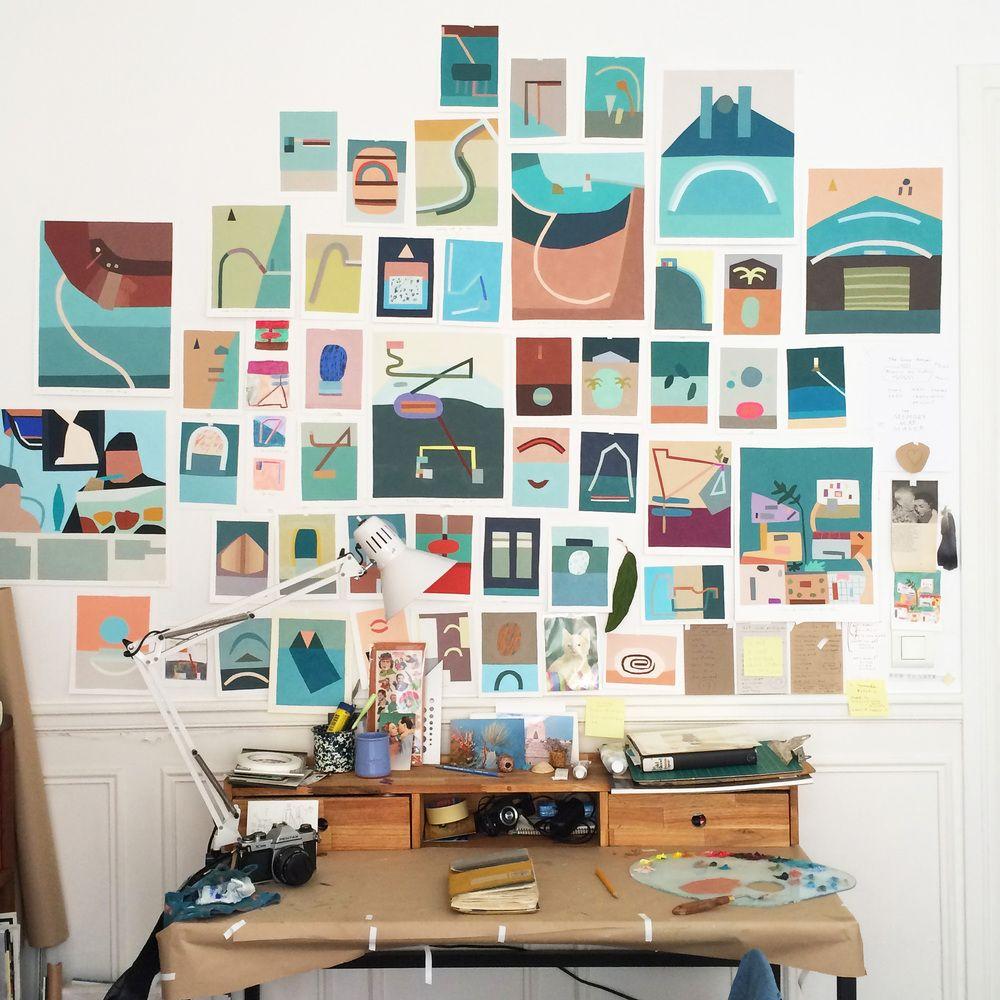 Kristin Texeira Prints Designer Work Space