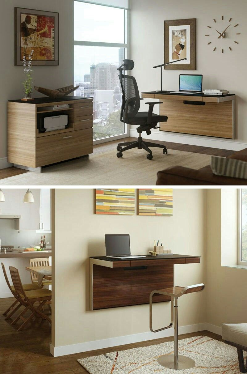 office space saving ideas. 16 Wall Desk Ideas That Are Great For Small Spaces // These Mounted Desks Save Space, Look Great, And Give You An Office Space Without Needing A Saving