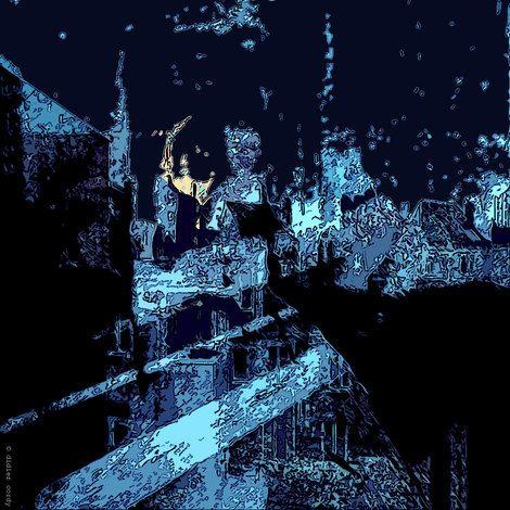 "Didier Cordy, ""Impression of a night sky ..."" on ArtStack #didier-cordy #art"