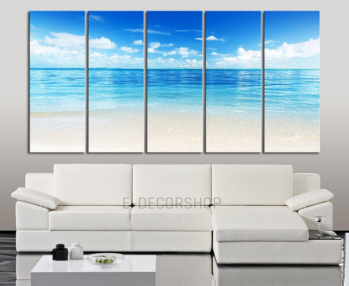 Serenity On Beach And Sea Canvas Print Resim