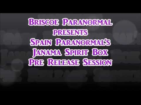 Spain Paranormal's JaNaMa Spirit Box Test Session 3