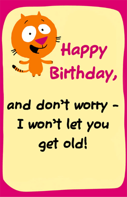 a happy birthday card