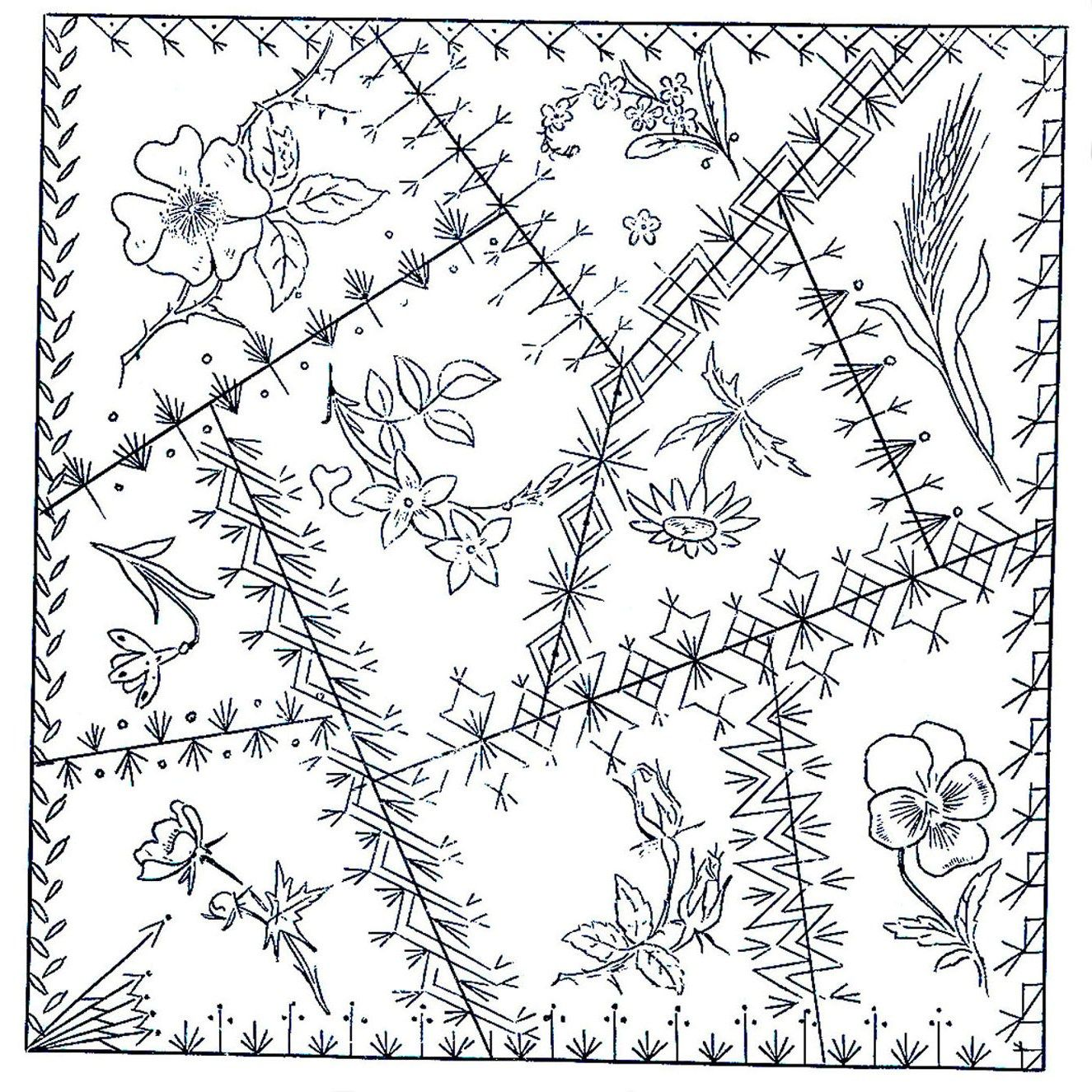 Victorian hand Embroidery Designs   The Victorians assumed you knew ...