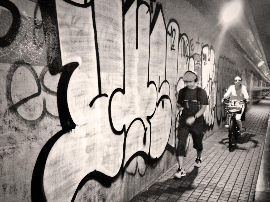 Graffiti wall tokyo - Photo By Harry Maison Graffiti Everywhere Inside A Tunnel In Shibuya Tokyo