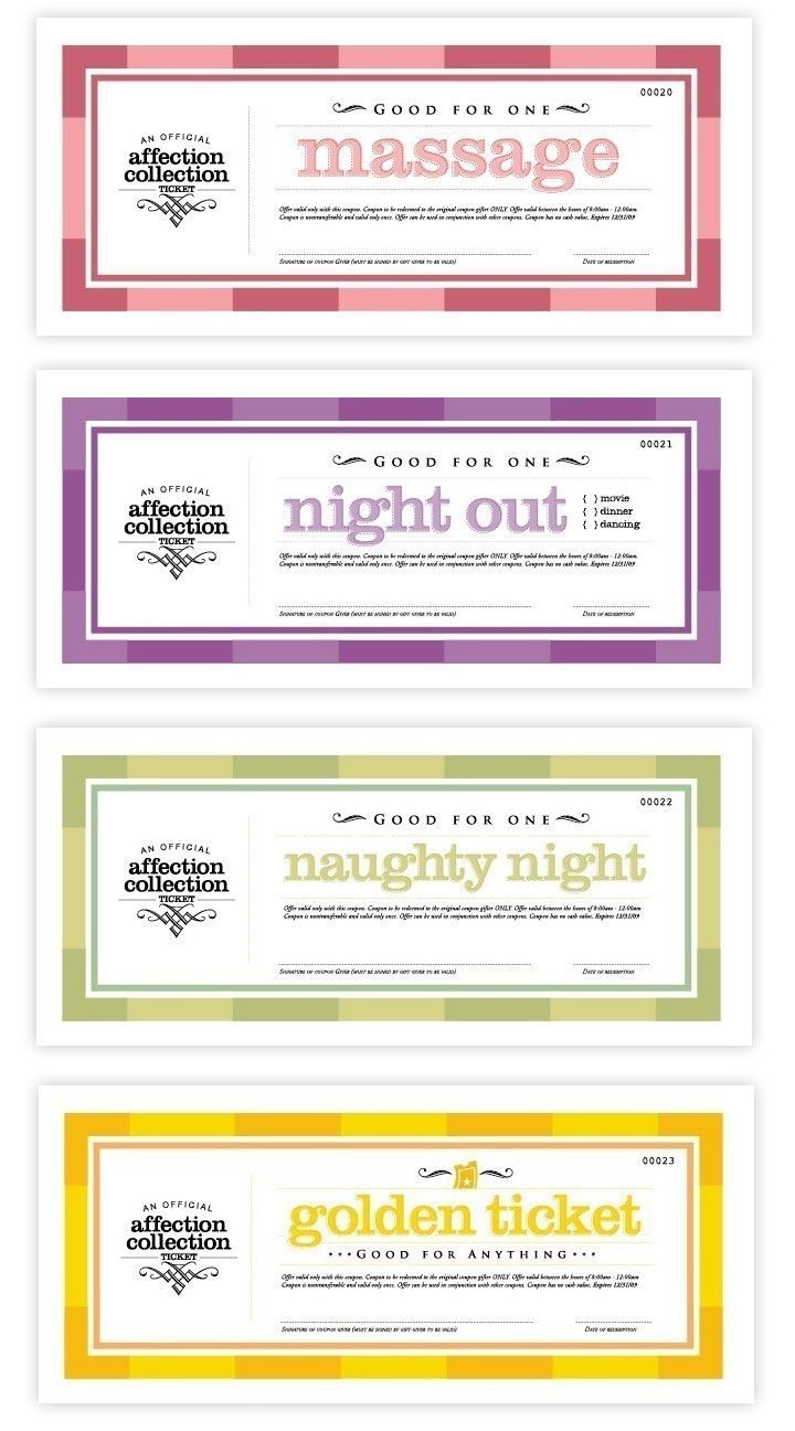 Printable Love Coupons by DesignCircus on Etsy | Gifts | Pinterest ...