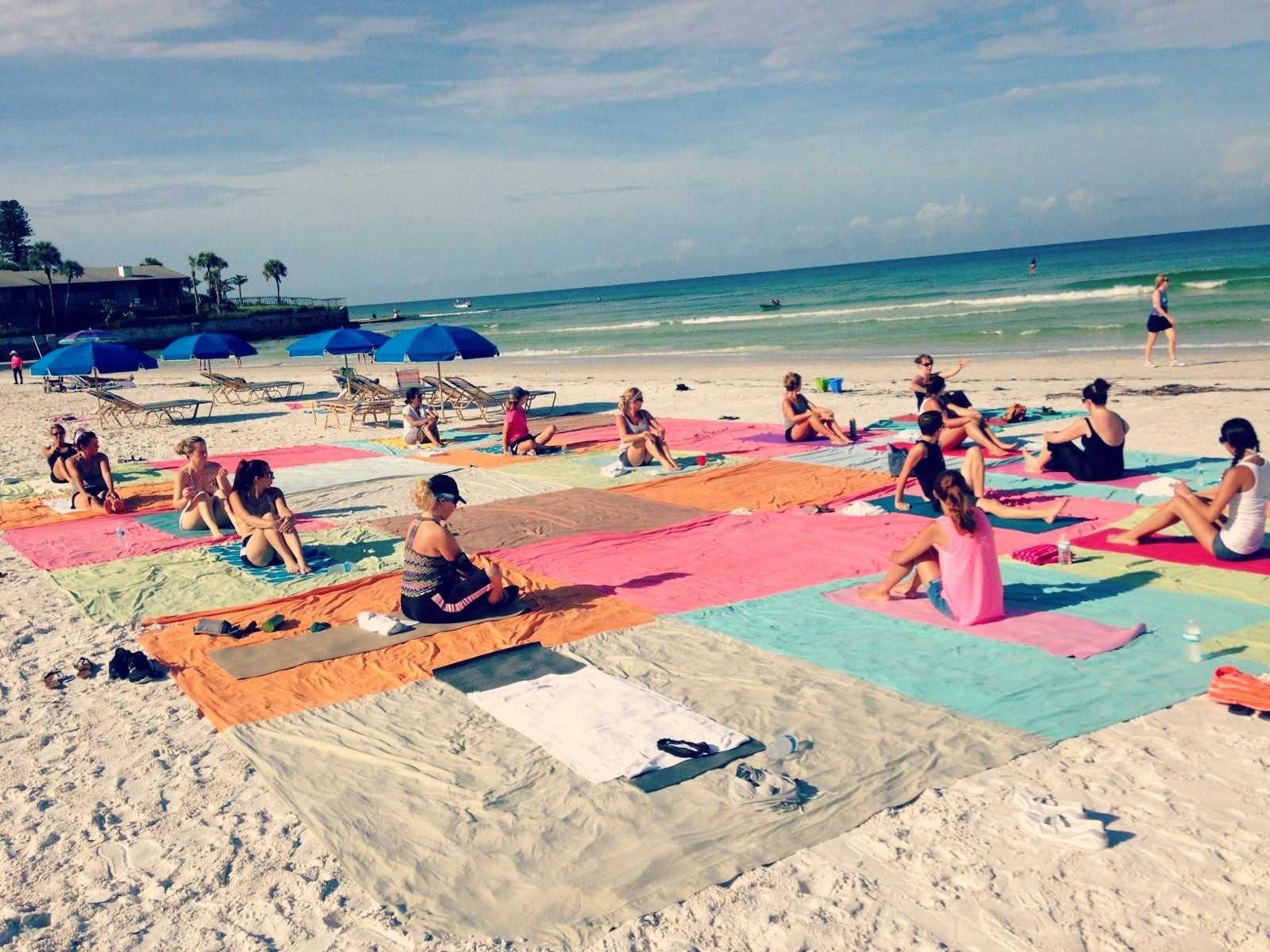 Beautiful Day For Yoga On Siesta Key Beach