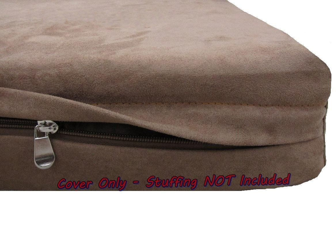Dogbed4less DIY Durable Brown MicroSuede Pet Bed External