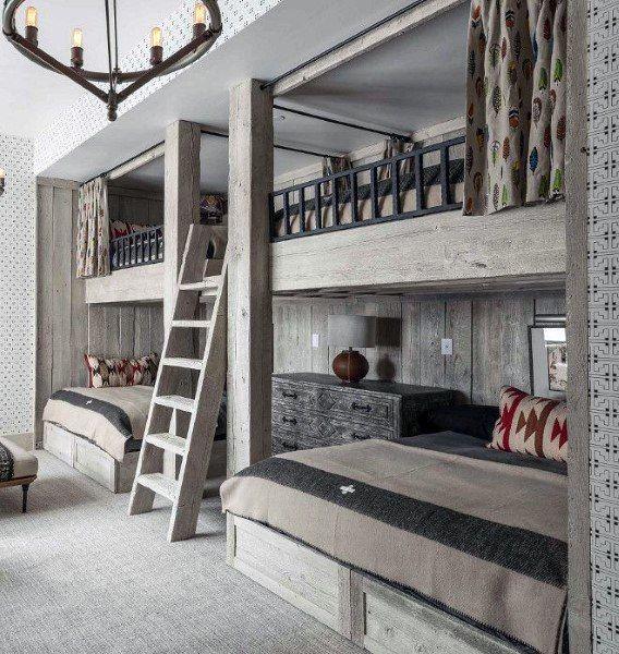 Top 70 besten Etagenbett Ideen – platzsparende Schlafzimmer-Designs - Mann Stil   Tattoo
