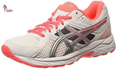Asics Gel-Contend 4, Chaussures de Tennis Femme, Noir (Black/Silver/Flash Coral), 44 EU