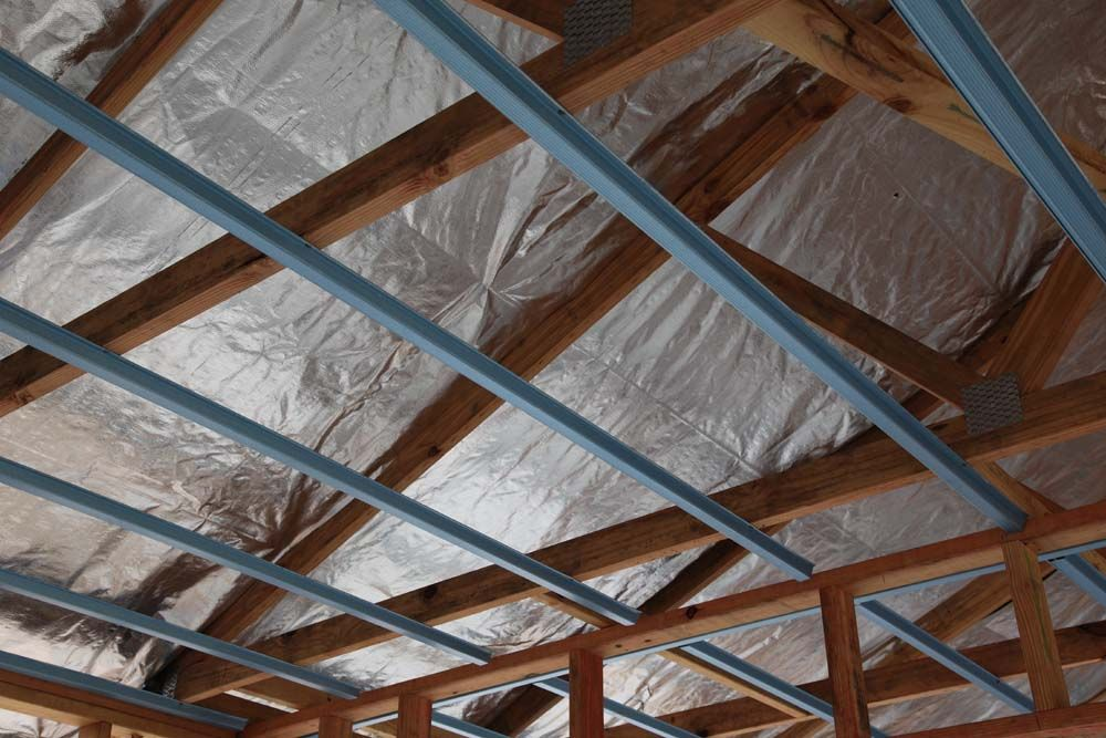 Sisalation Under The Roof Sheeting Is Used Along With