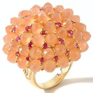 moonstone-and-precious-gem-dome-ring  #HSN #FallFashion