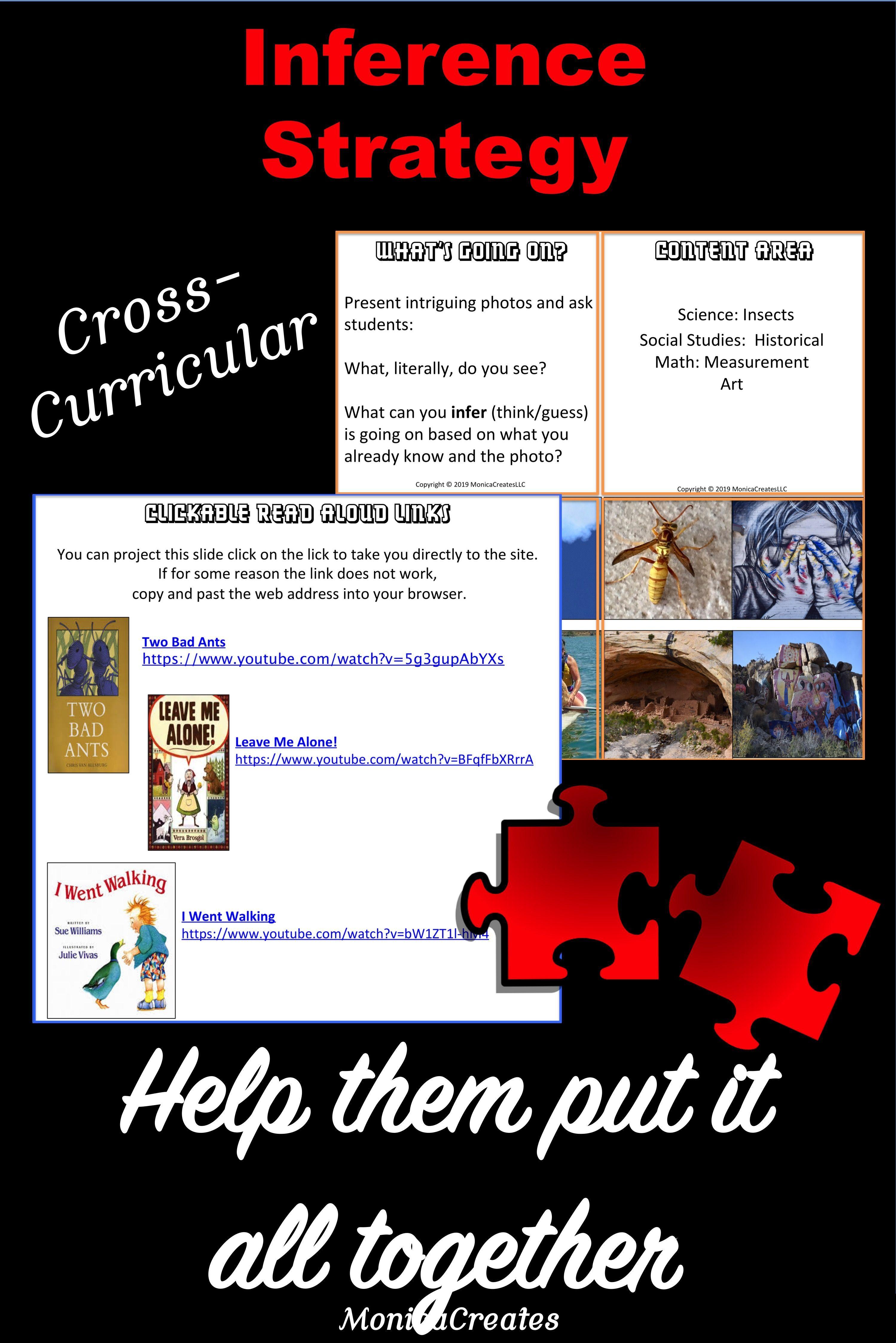 Making Inferences Teacher Task Cards Cross Curricular 50