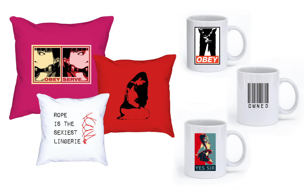 Mugs, pillows and other Home decor for Dom and sub