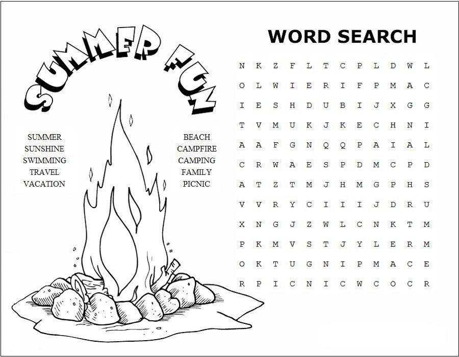 Summer Word Search Puzzles Best Coloring Pages For Kids Summer Words Coloring Pages For Kids Summer Coloring Pages