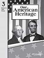 Abeka 3rd grade history our american heritage quiz and test book abeka 3rd grade history our american heritage quiz and test book fandeluxe Image collections