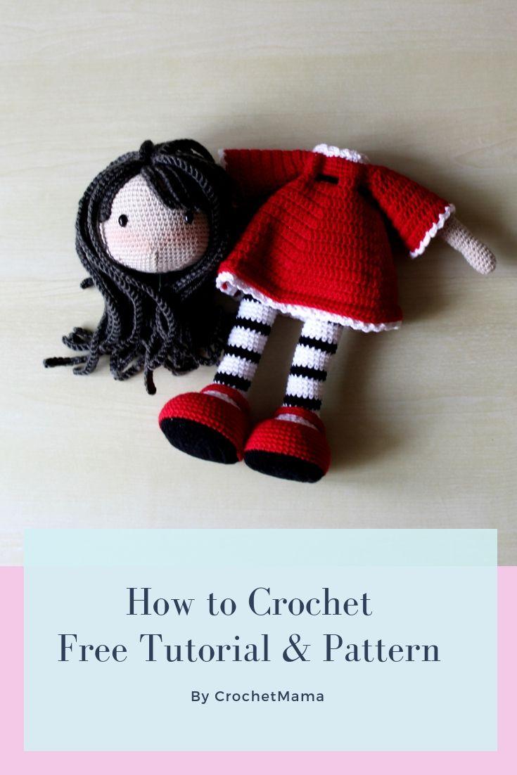 Crochet Doll Red Tutorial & Pattern (Part 1) #crochetdoll