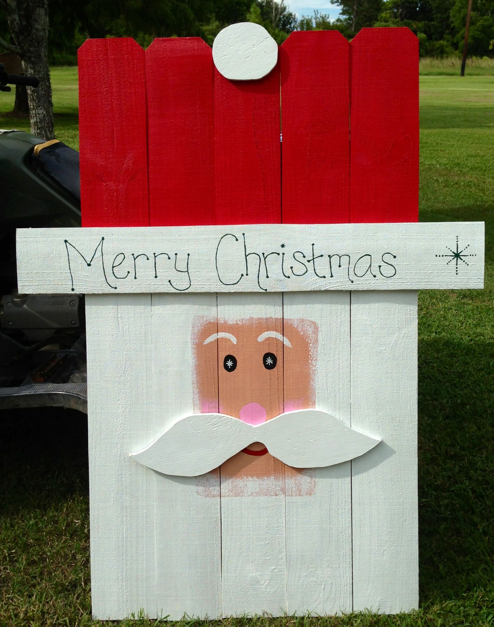 Wooden Yard Art Picket Santa Www Facebook Com