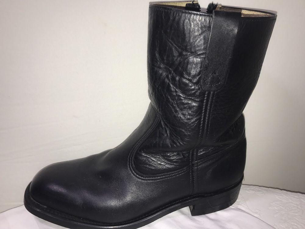 57acebf7cb6 Handmade Black Boots Men's Size 11.5D Leather Vibram Work Neoprene ...