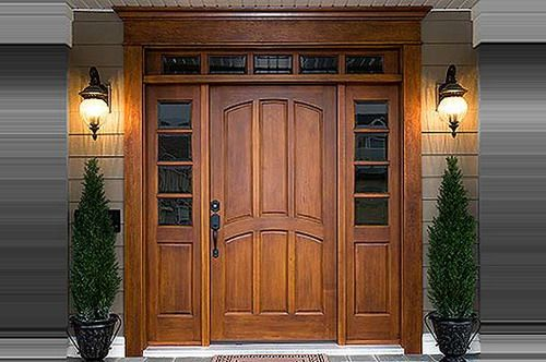 Wood Front Doors Teak Wood Exterior Front Door Gallery Home