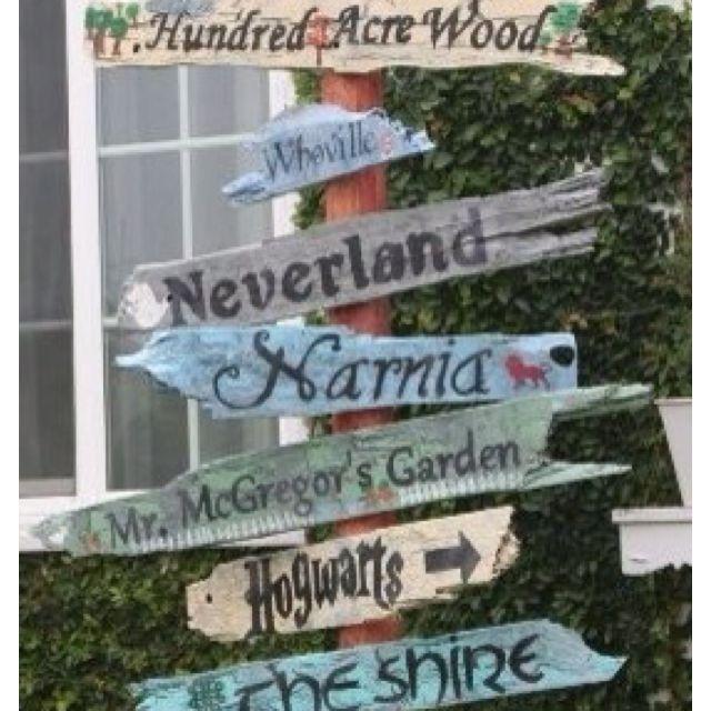 Inspiration fantasy sign post outdoor decor for Garden design ideas book